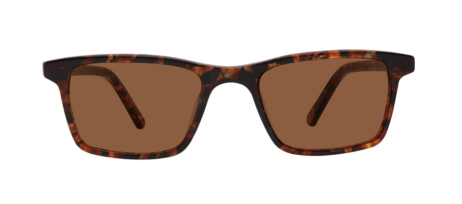 Affordable Fashion Glasses Rectangle Sunglasses Men Henri SML Mohagany Front