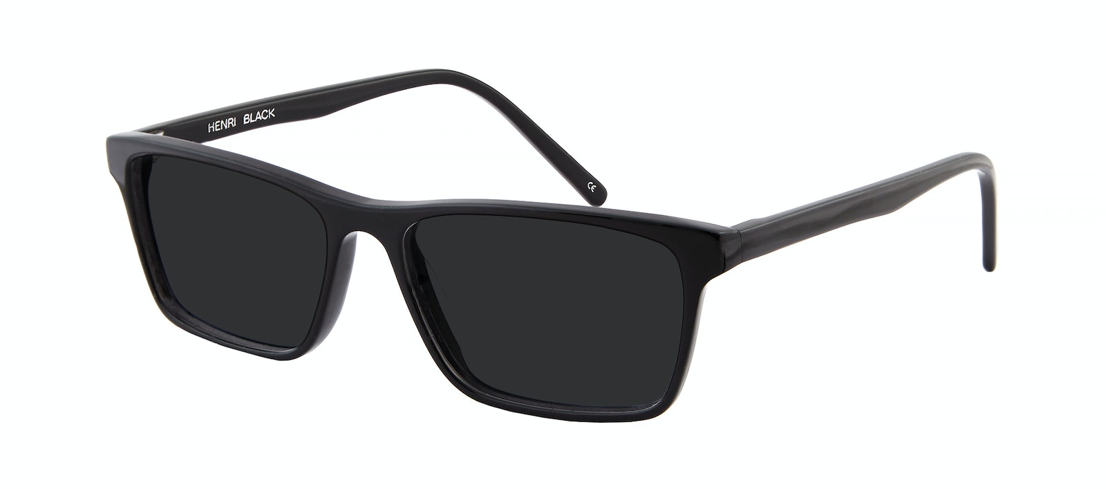 Affordable Fashion Glasses Rectangle Sunglasses Men Henri Black  Tilt