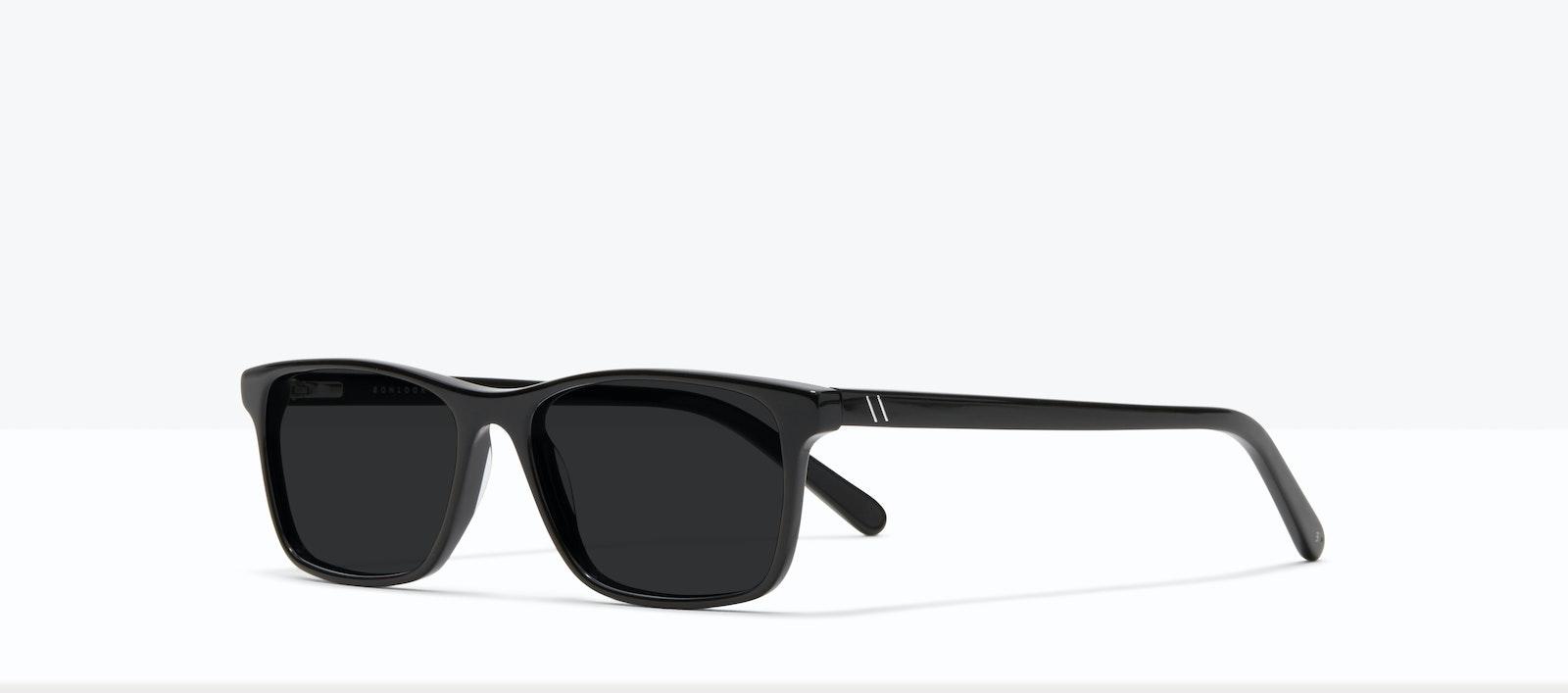 Affordable Fashion Glasses Rectangle Sunglasses Men Henri XL Black Tilt