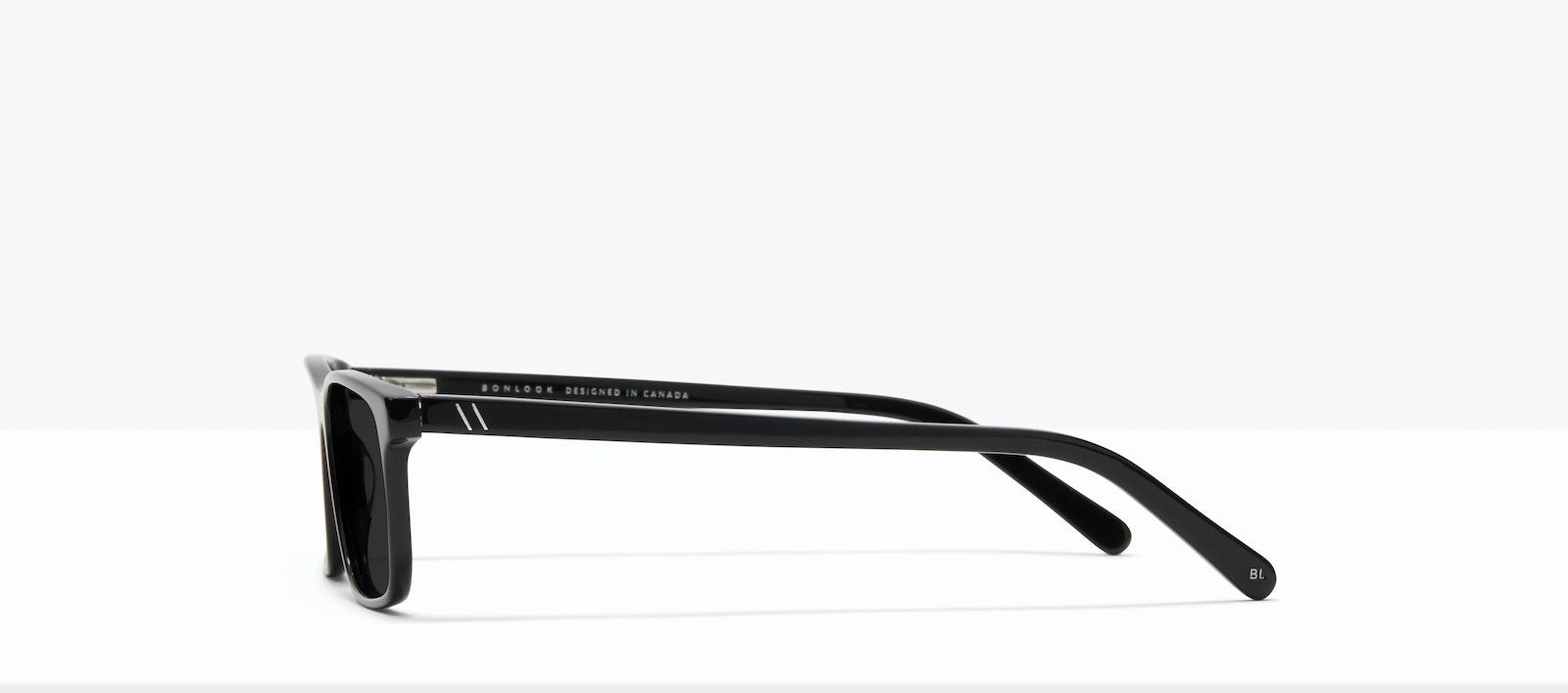 Affordable Fashion Glasses Rectangle Sunglasses Men Henri XL Black Side
