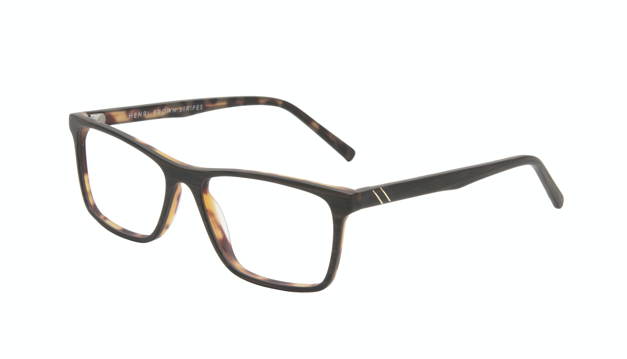 Affordable Fashion Glasses Rectangle Eyeglasses Men Henri Brown Stripes Tilt