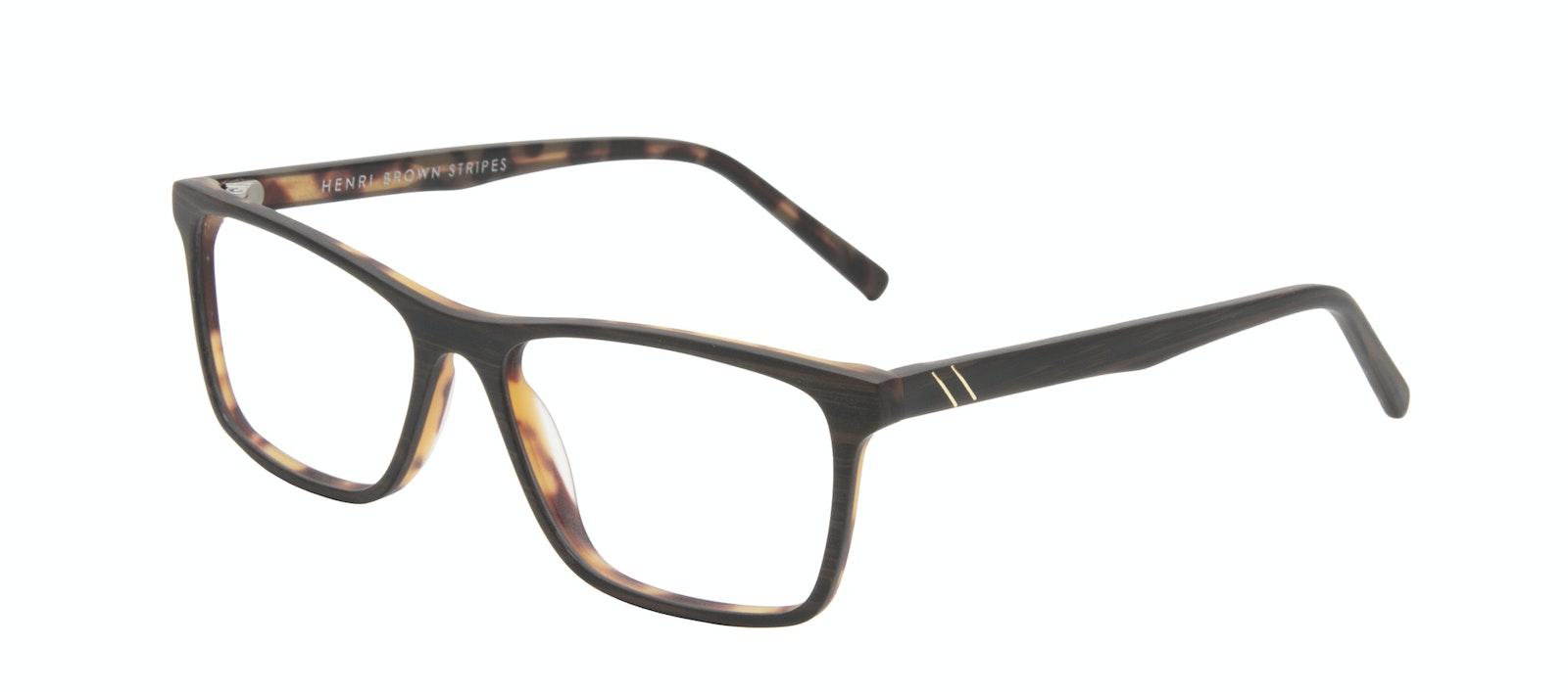 Lunettes tendance Rectangle Lunettes de vue Hommes Henri Brown Stripes Incliné