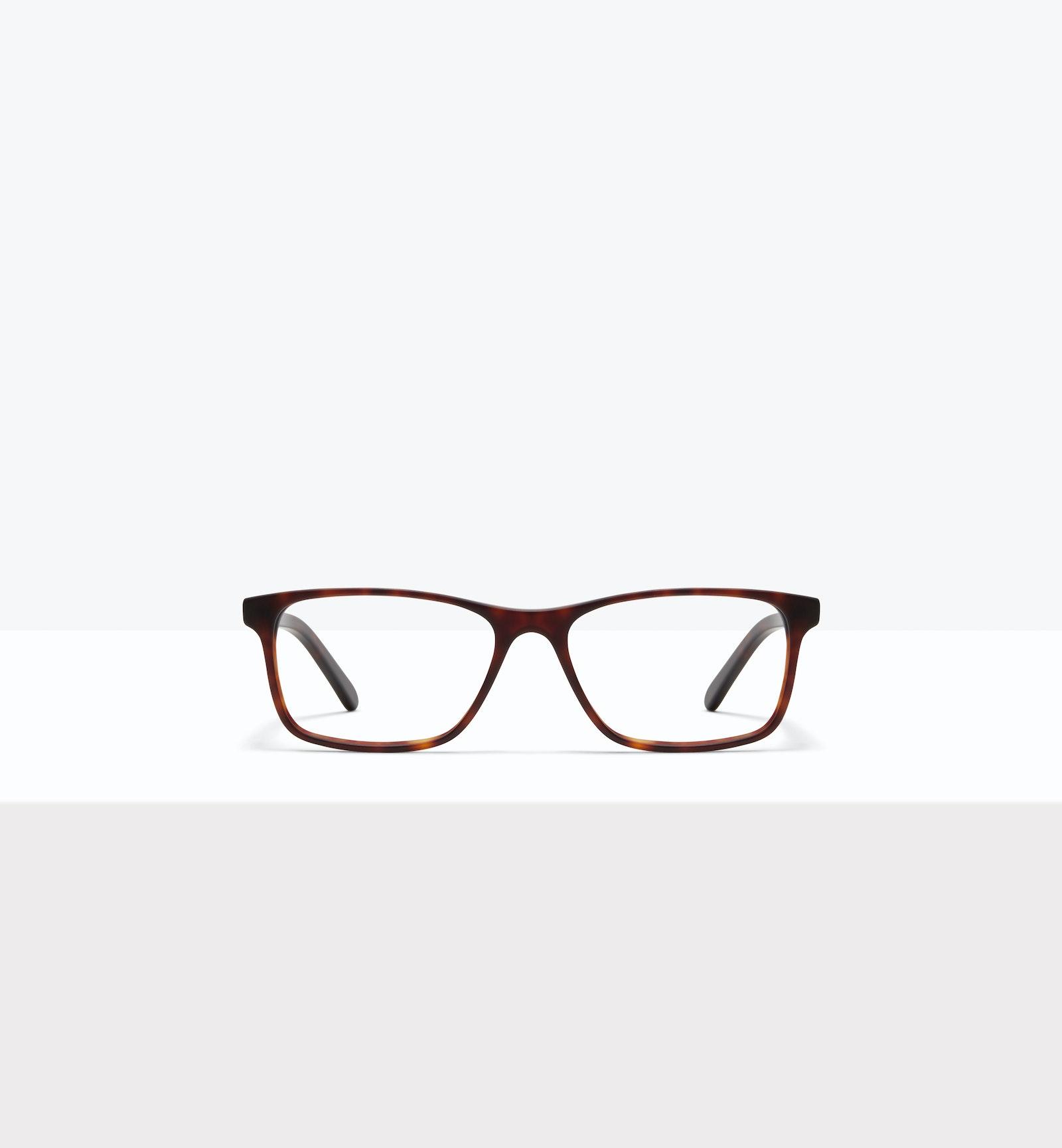 Affordable Fashion Glasses Rectangle Eyeglasses Men Henri XL Matte Tort