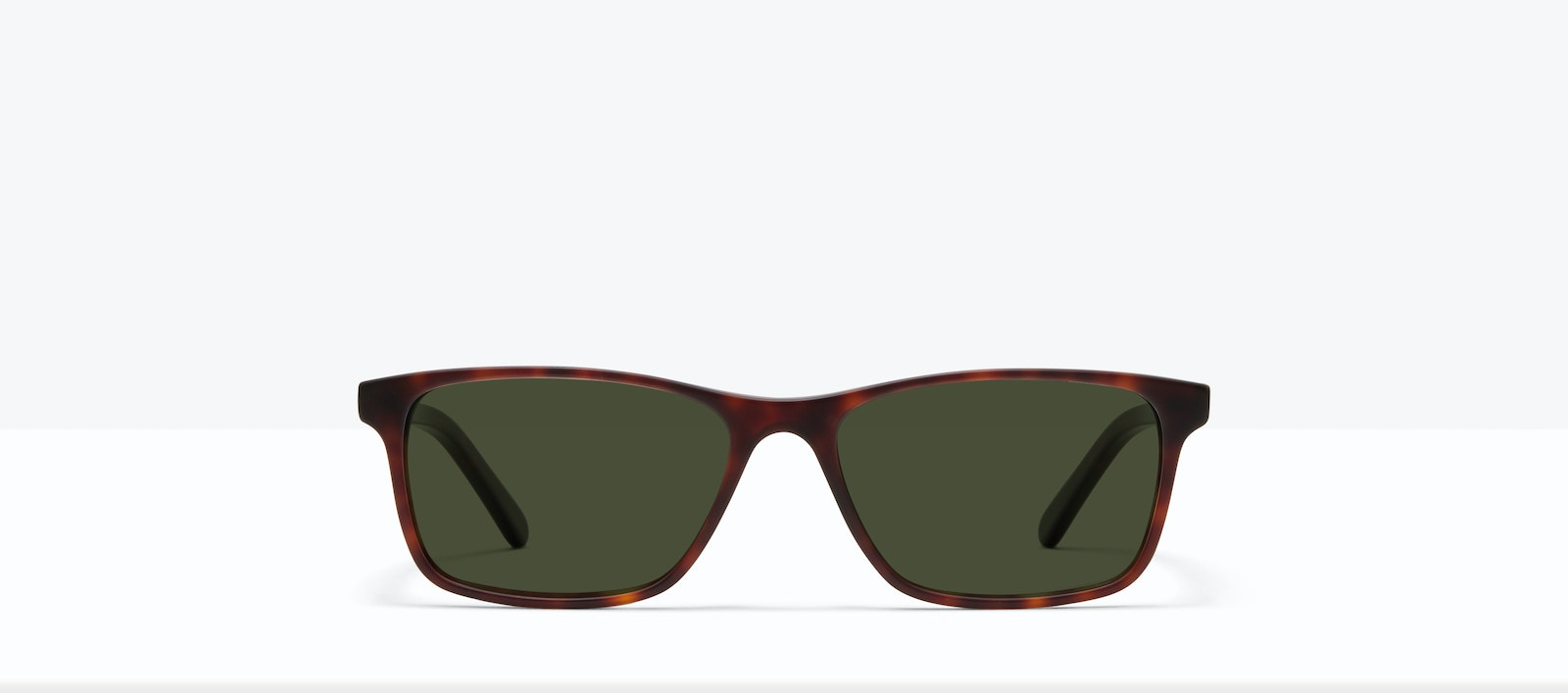 Affordable Fashion Glasses Rectangle Sunglasses Men Henri XL Matte Tort Front
