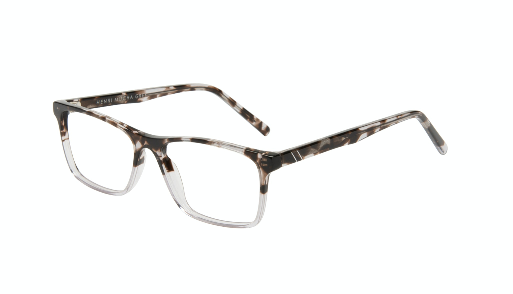 Affordable Fashion Glasses Rectangle Eyeglasses Men Henri Mocha Grey Tilt