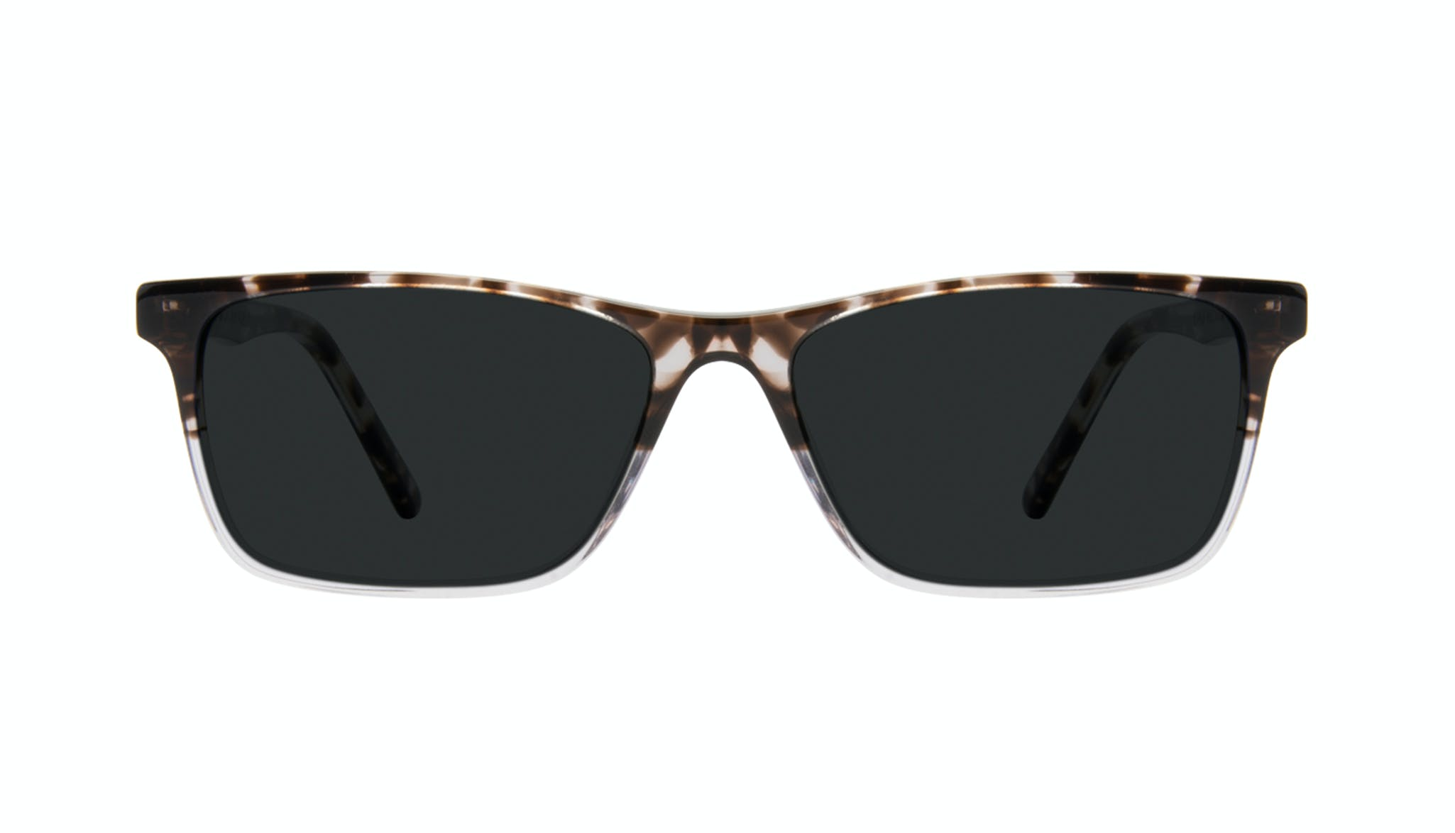 Affordable Fashion Glasses Rectangle Sunglasses Men Henri Mocha Grey Front