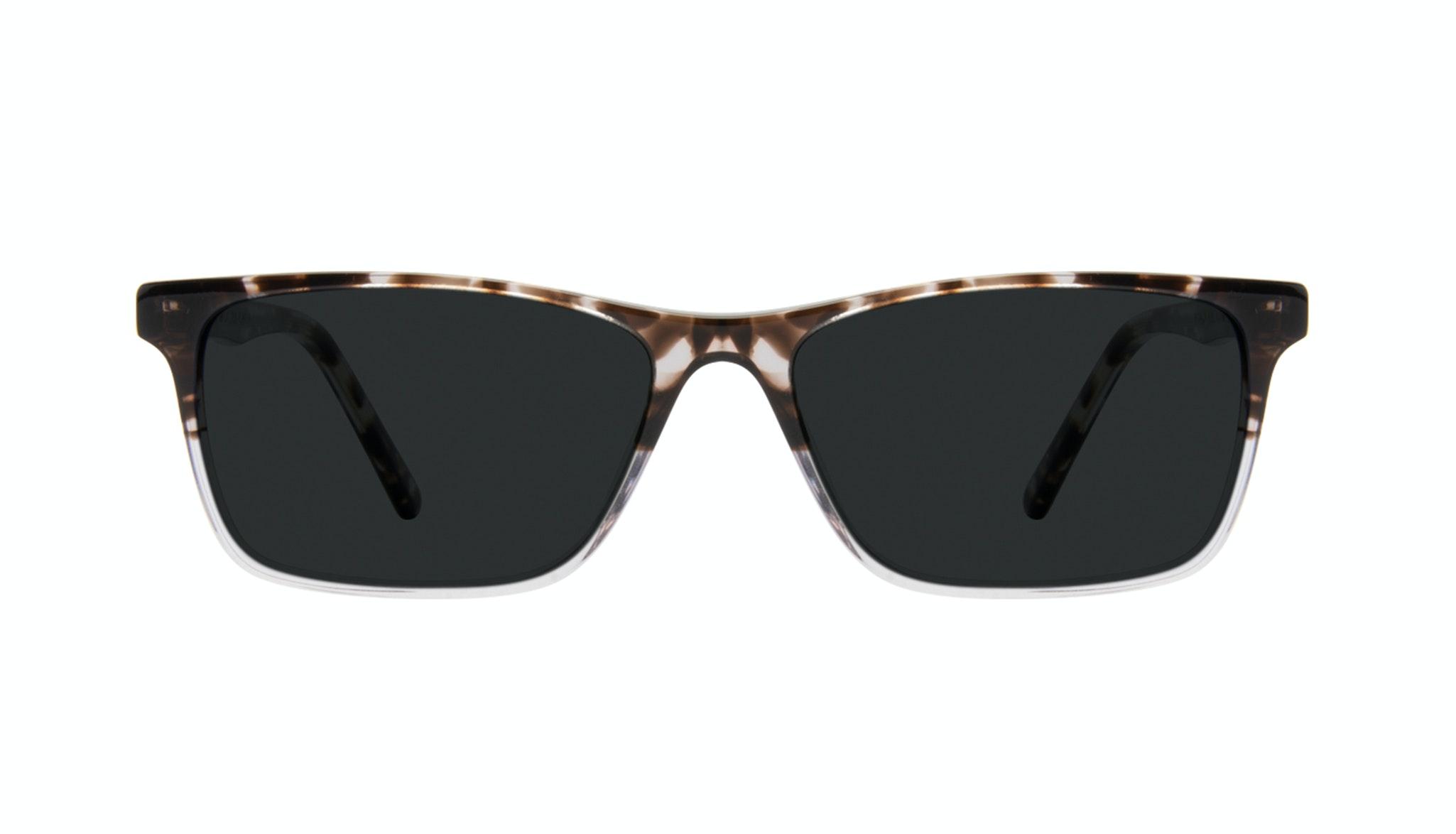 Affordable Fashion Glasses Rectangle Sunglasses Men Henri Mocha Grey Front