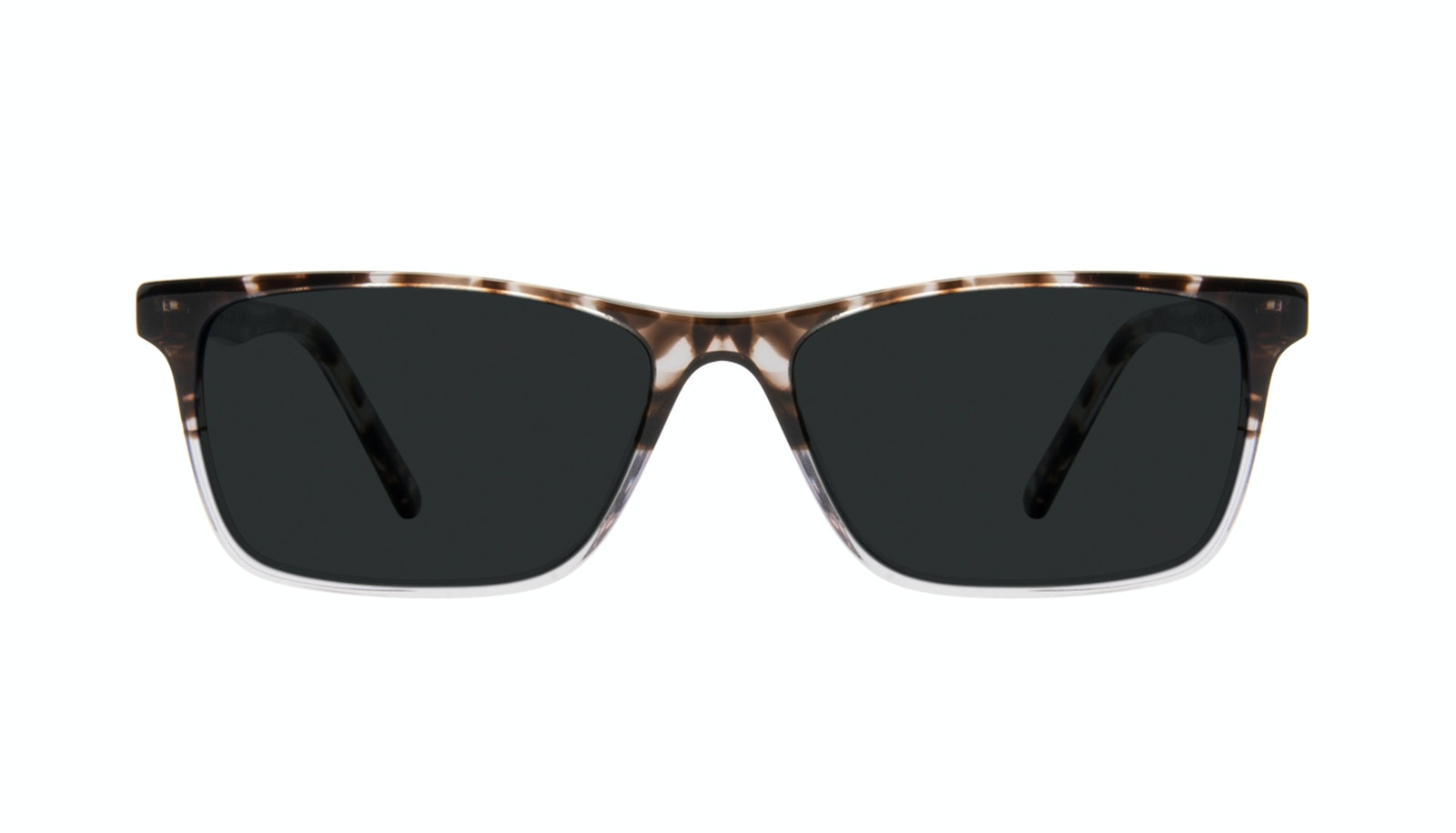 Affordable Fashion Glasses Rectangle Sunglasses Men Henri Mocha Grey
