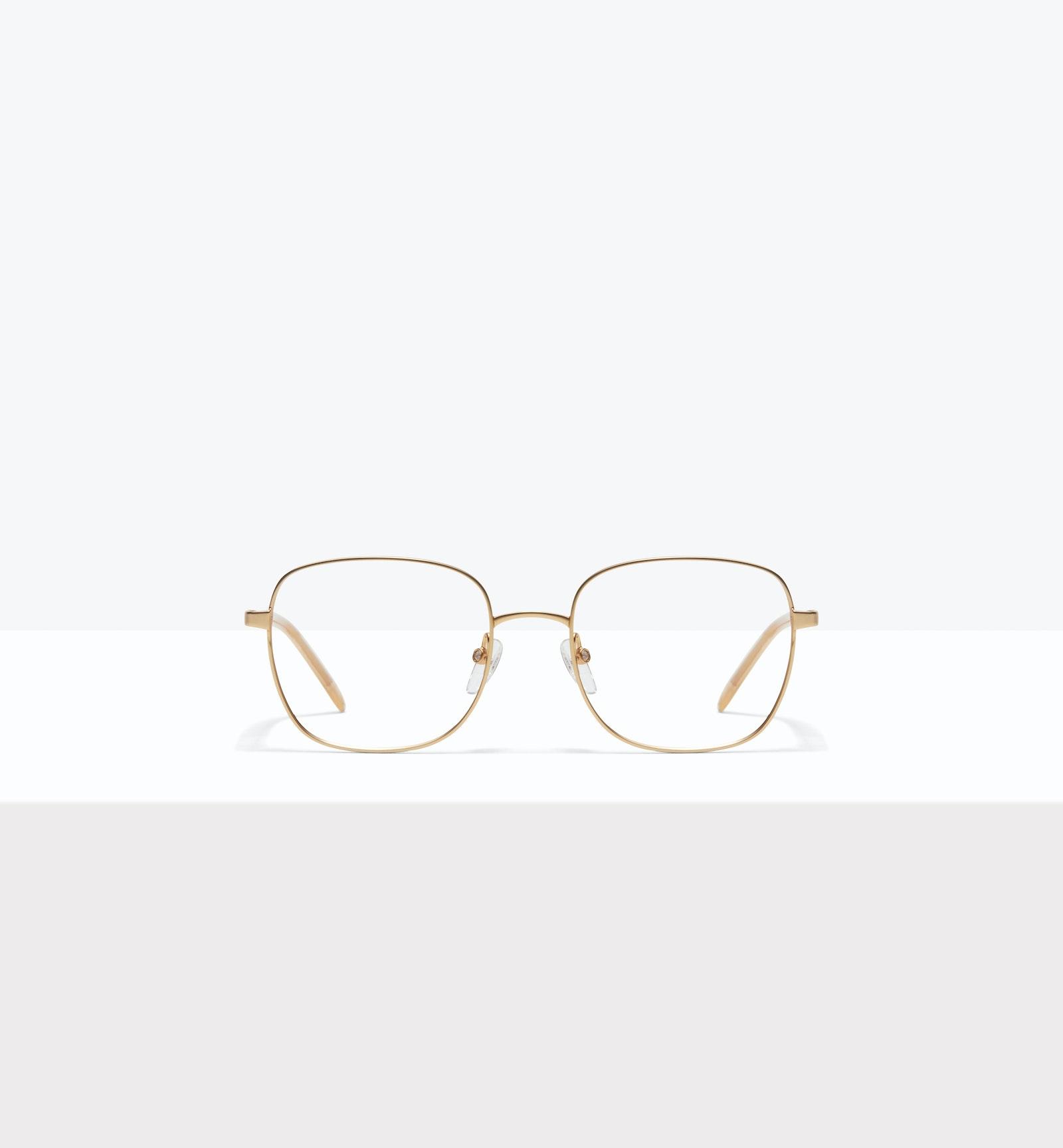 Affordable Fashion Glasses Square Eyeglasses Women Henriette M Matte Gold