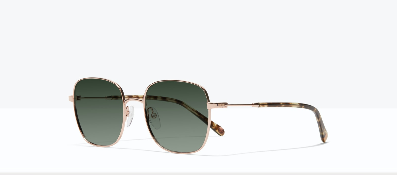 Affordable Fashion Glasses Square Sunglasses Women Henriette M Rose Gold Tilt
