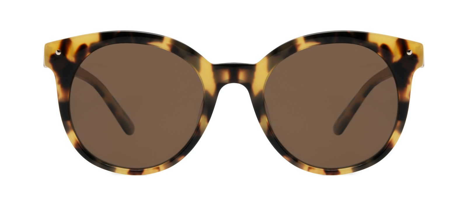 Affordable Fashion Glasses Round Sunglasses Women Hip Tortoise Front