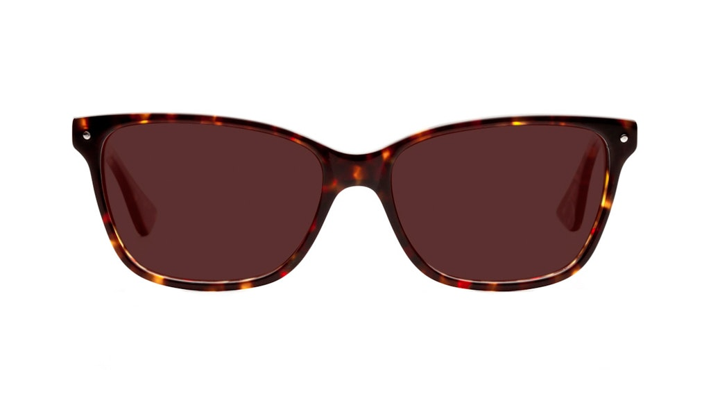 Affordable Fashion Glasses Cat Eye Sunglasses Women Honeybadger Chocolate Tortoise Front