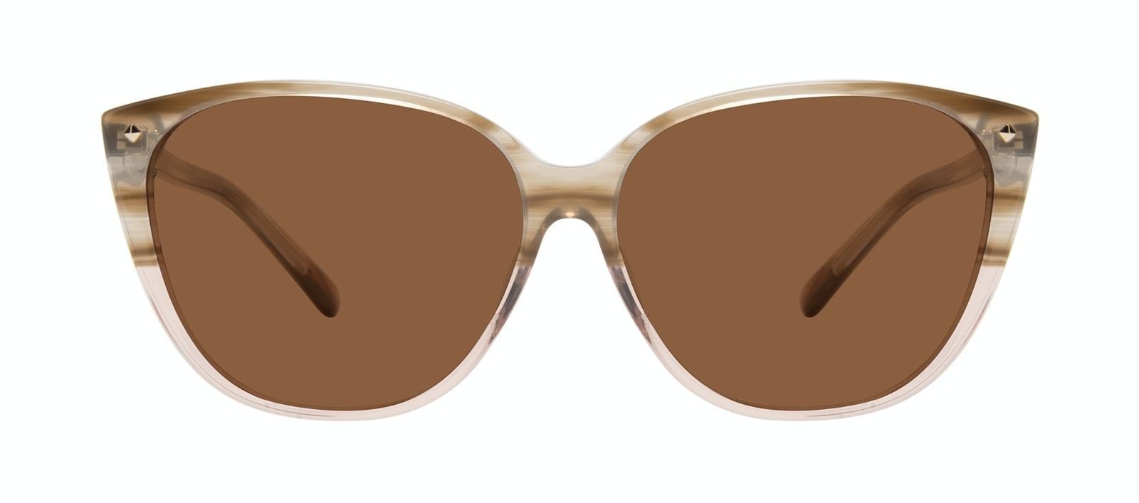 Affordable Fashion Glasses Cat Eye Sunglasses Women Icone Rosewood Front