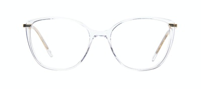 Affordable Fashion Glasses Rectangle Square Eyeglasses Women Illusion Gold Diamond Front