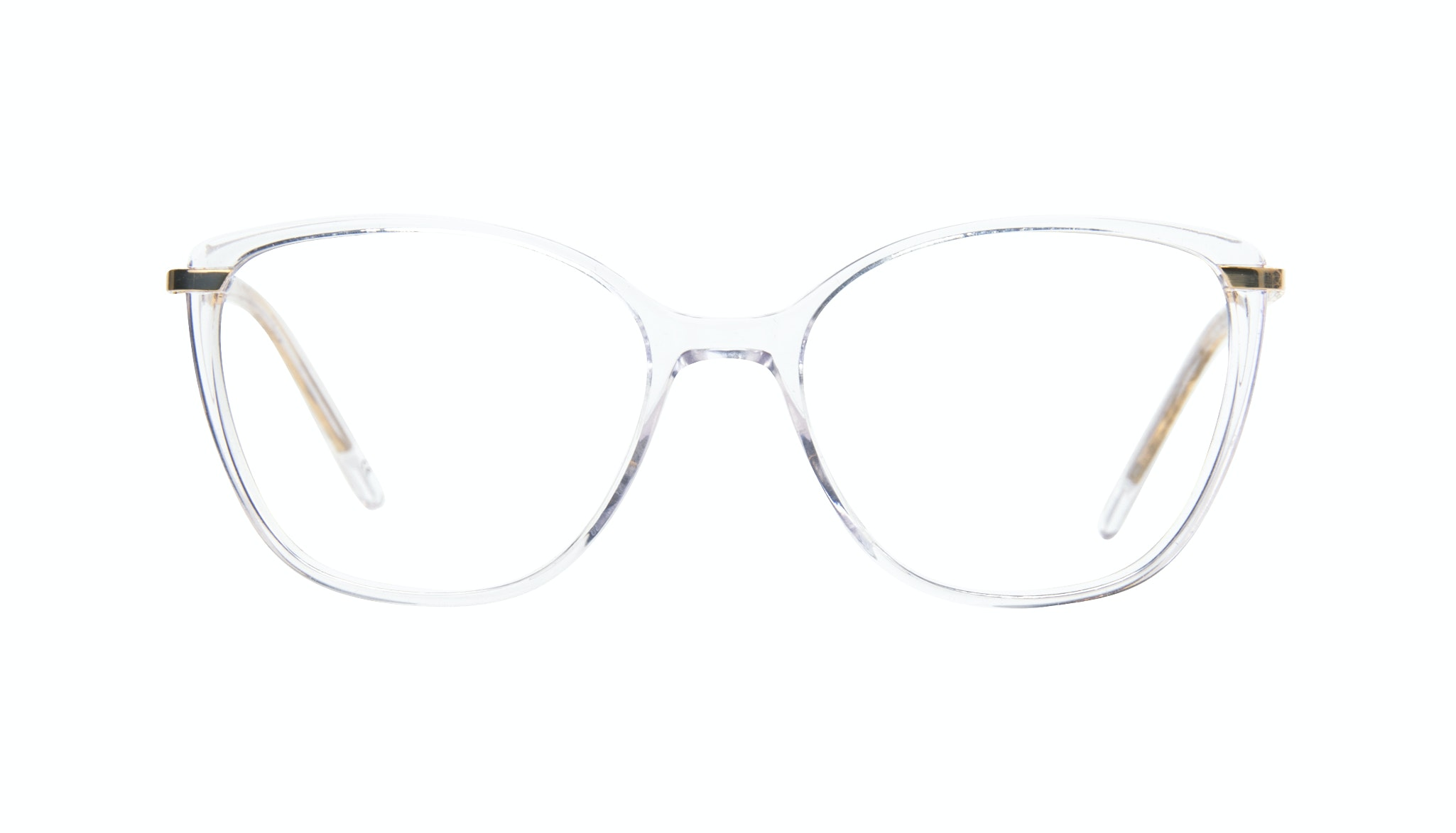 Affordable Fashion Glasses Cat Eye Rectangle Eyeglasses Women Illusion Gold Diamond Front