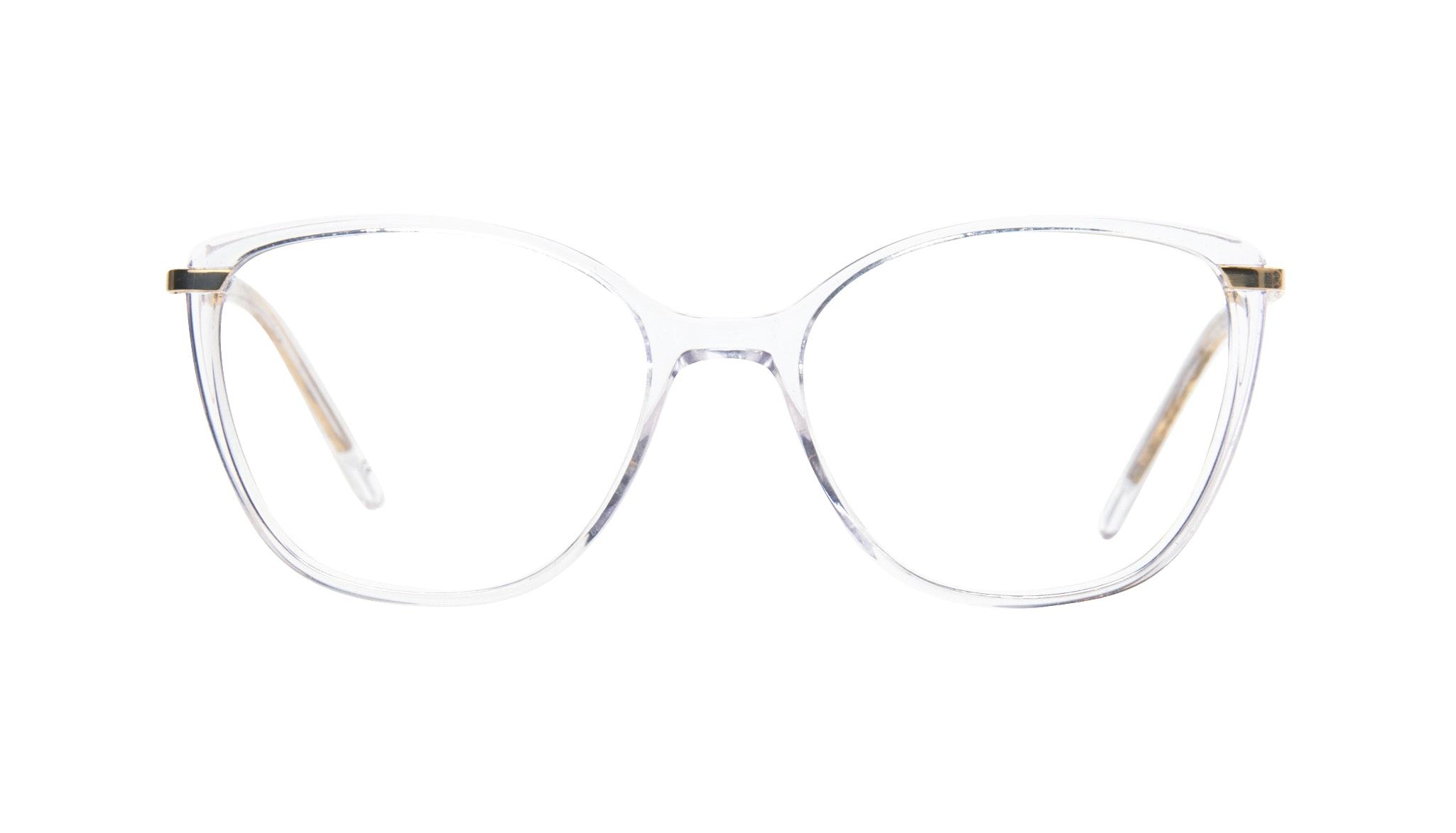 Affordable Fashion Glasses Cat Eye Rectangle Square Eyeglasses Women Illusion Gold Diamond Front