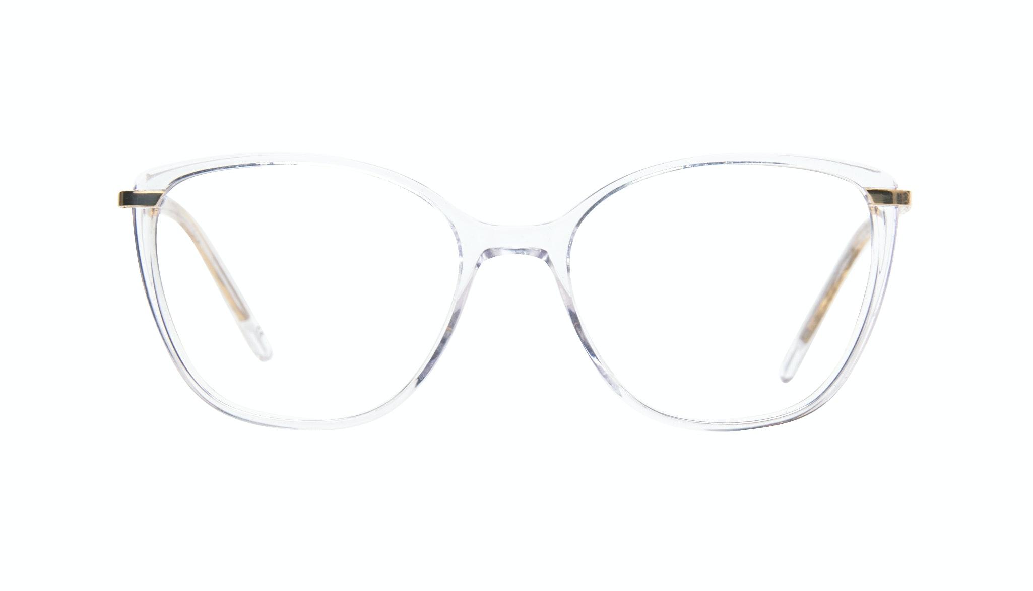 Lunettes tendance Oeil de chat Rectangle Carrée Lunettes de vue Femmes Illusion Gold Diamond Face