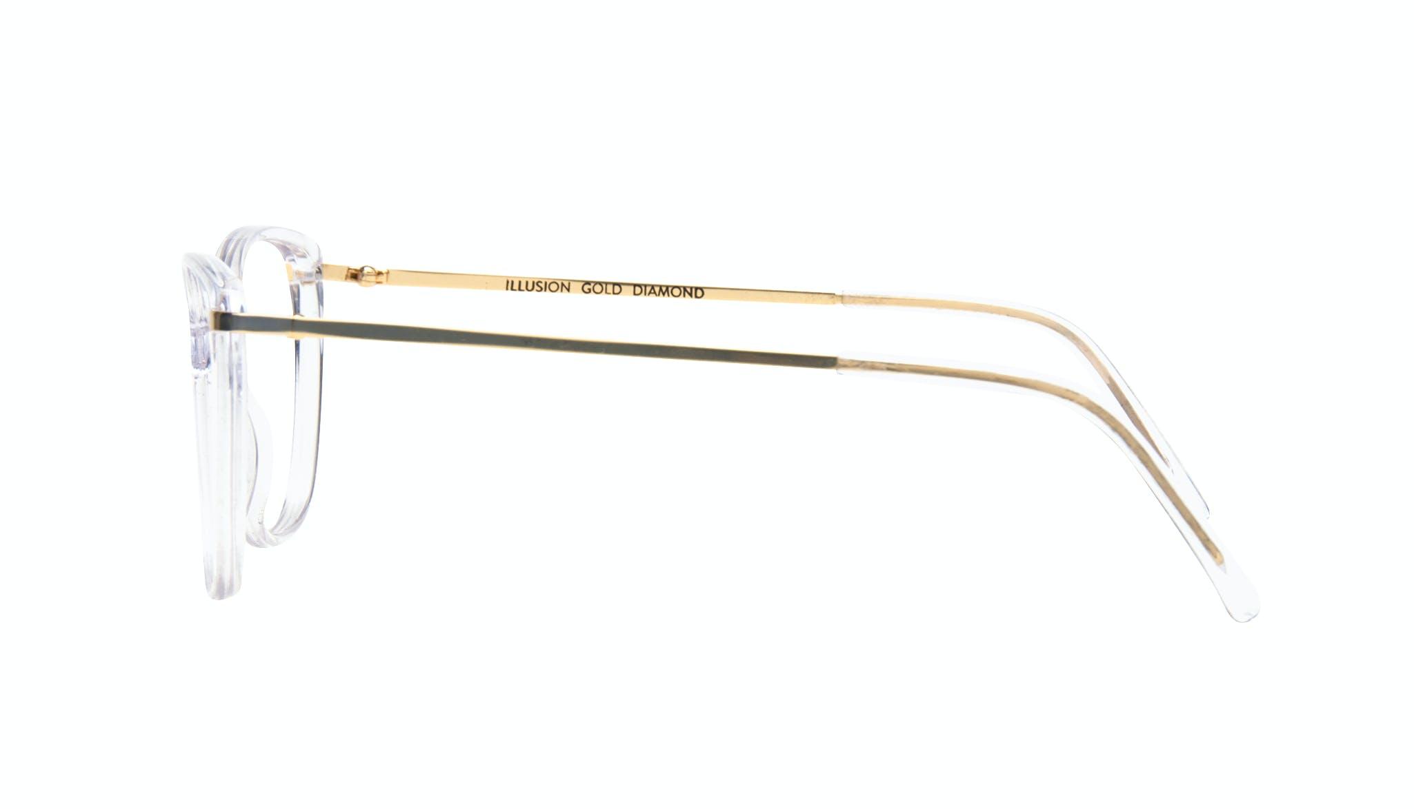 Affordable Fashion Glasses Cat Eye Rectangle Square Eyeglasses Women Illusion Gold Diamond Side