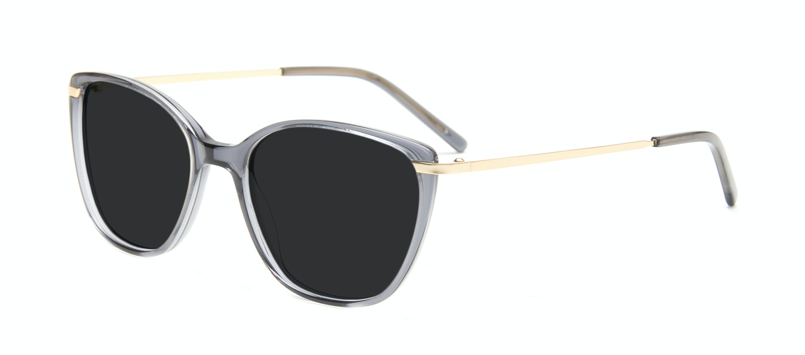 Affordable Fashion Glasses Cat Eye Rectangle Square Sunglasses Women Illusion Gold Shadow Tilt