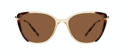 Affordable Fashion Glasses Rectangle Square Sunglasses Women Illusion Golden Tort Front