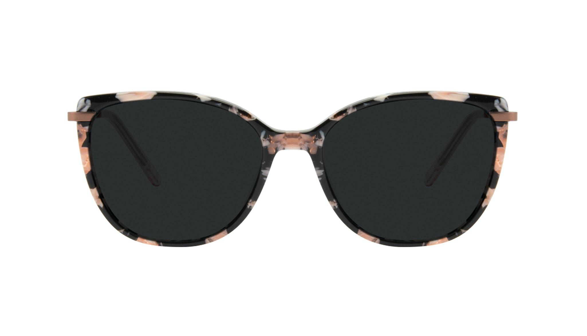 Affordable Fashion Glasses Cat Eye Rectangle Square Sunglasses Women Illusion Licorice Front