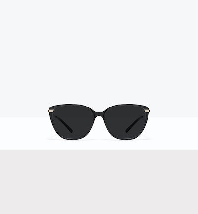 Affordable Fashion Glasses Rectangle Square Sunglasses Women Illusion M Onyx Front