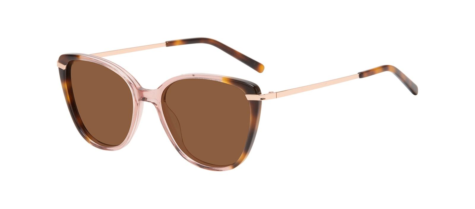 Affordable Fashion Glasses Rectangle Square Sunglasses Women Illusion Rose Tort Tilt