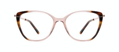 Affordable Fashion Glasses Rectangle Square Eyeglasses Women Illusion Rose Tort Front
