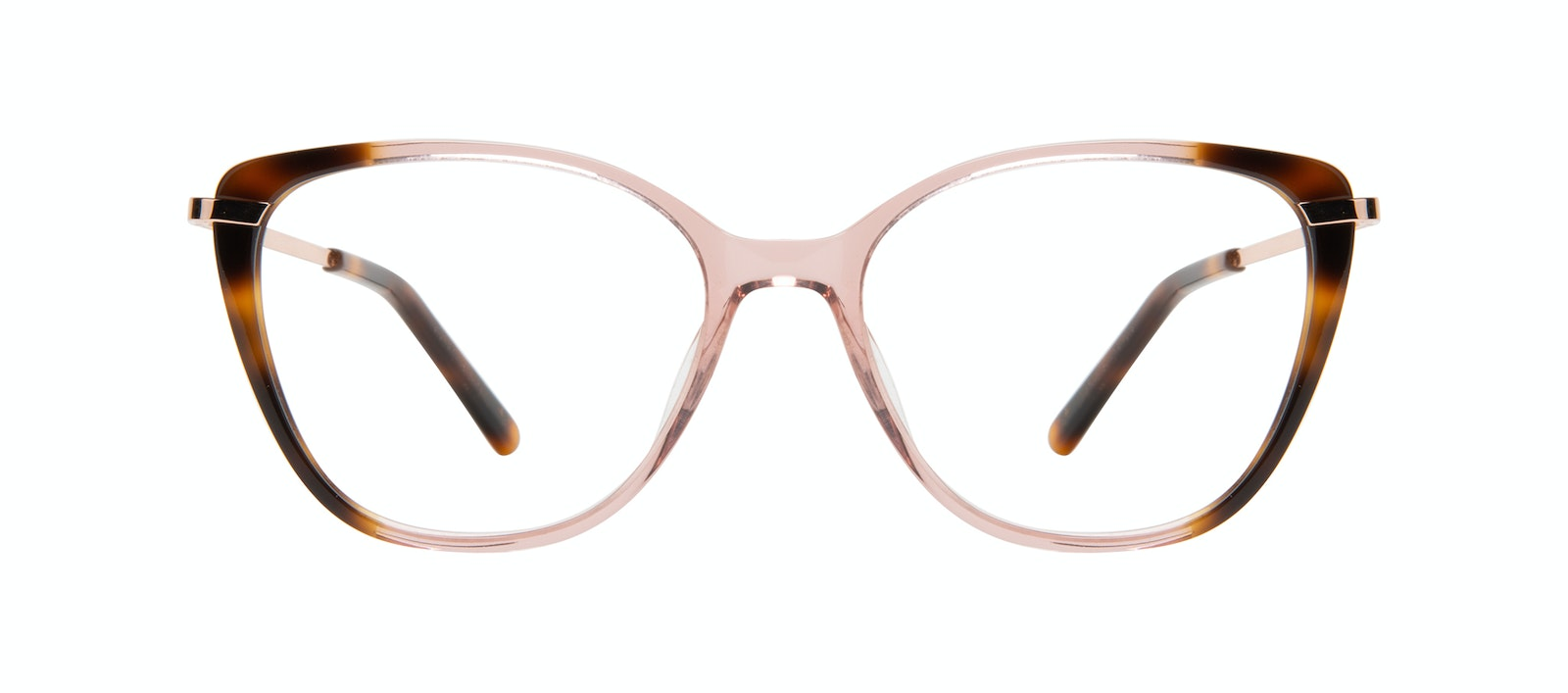 Affordable Fashion Glasses Rectangle Square Eyeglasses Women Illusion Rose Tort Front