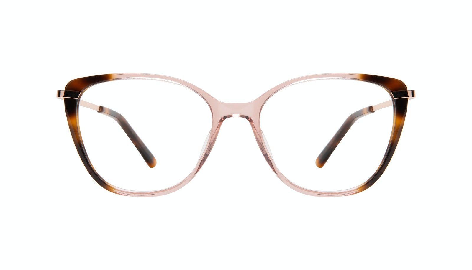 Affordable Fashion Glasses Rectangle Square Eyeglasses Women Illusion Rose Tort