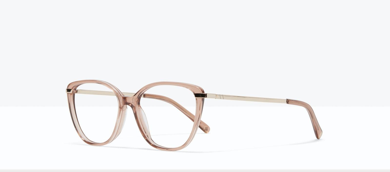 Affordable Fashion Glasses Rectangle Square Eyeglasses Women Illusion XS Rose Tilt