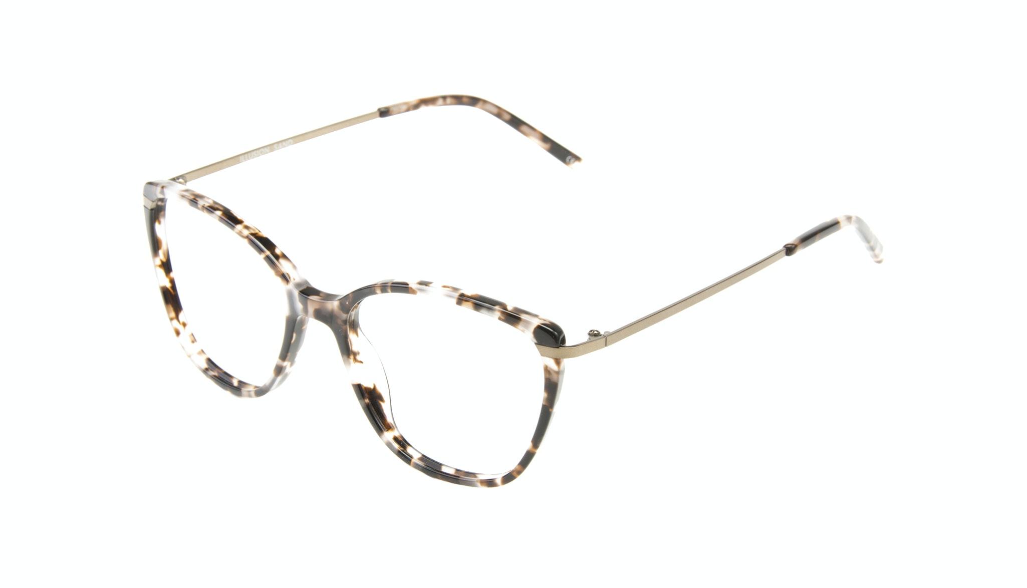 Lunettes tendance Oeil de chat Rectangle Carrée Lunettes de vue Femmes Illusion Sand Incliné