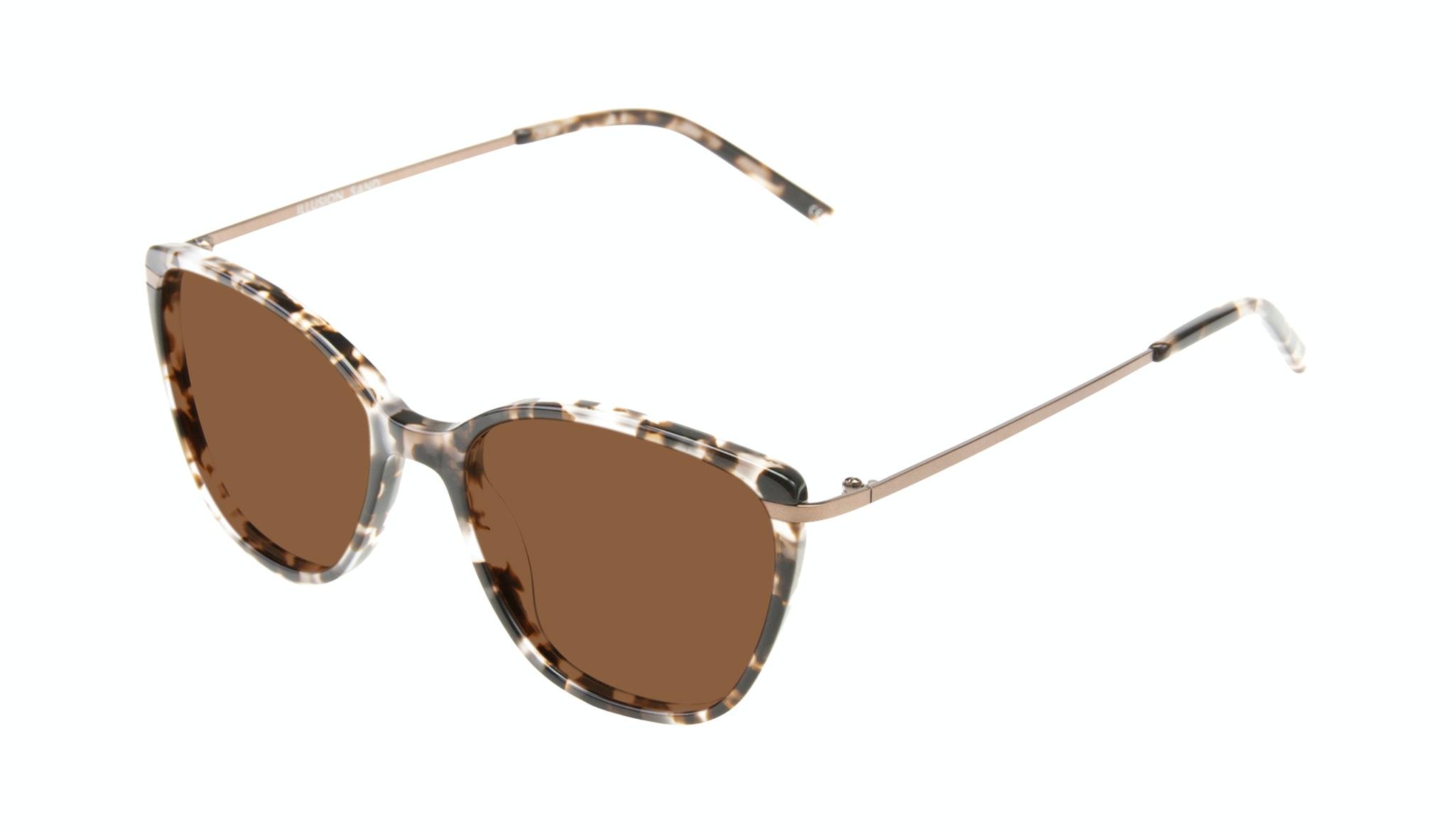 Affordable Fashion Glasses Cat Eye Rectangle Square Sunglasses Women Illusion Sand Tilt
