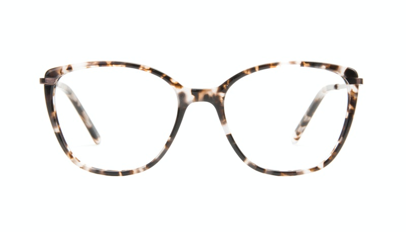 acd02a14c87d Affordable Fashion Glasses Cat Eye Rectangle Square Eyeglasses Women  Illusion Sand
