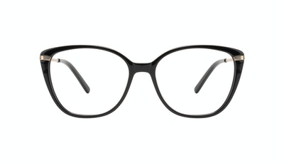 Affordable Fashion Glasses Rectangle Square Eyeglasses Women Illusion M Onyx Front