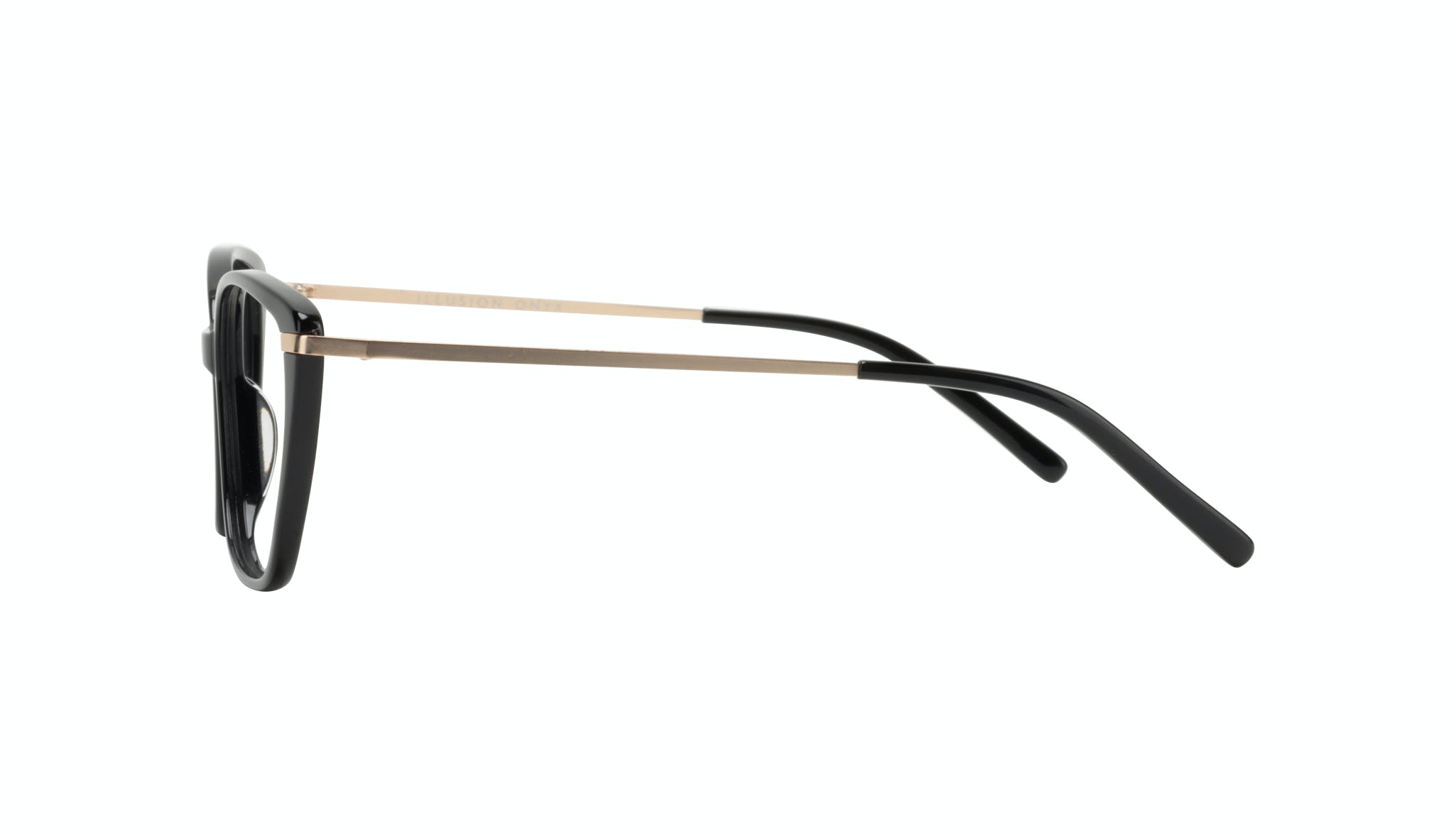 Affordable Fashion Glasses Cat Eye Rectangle Square Eyeglasses Women Illusion Onyx Side