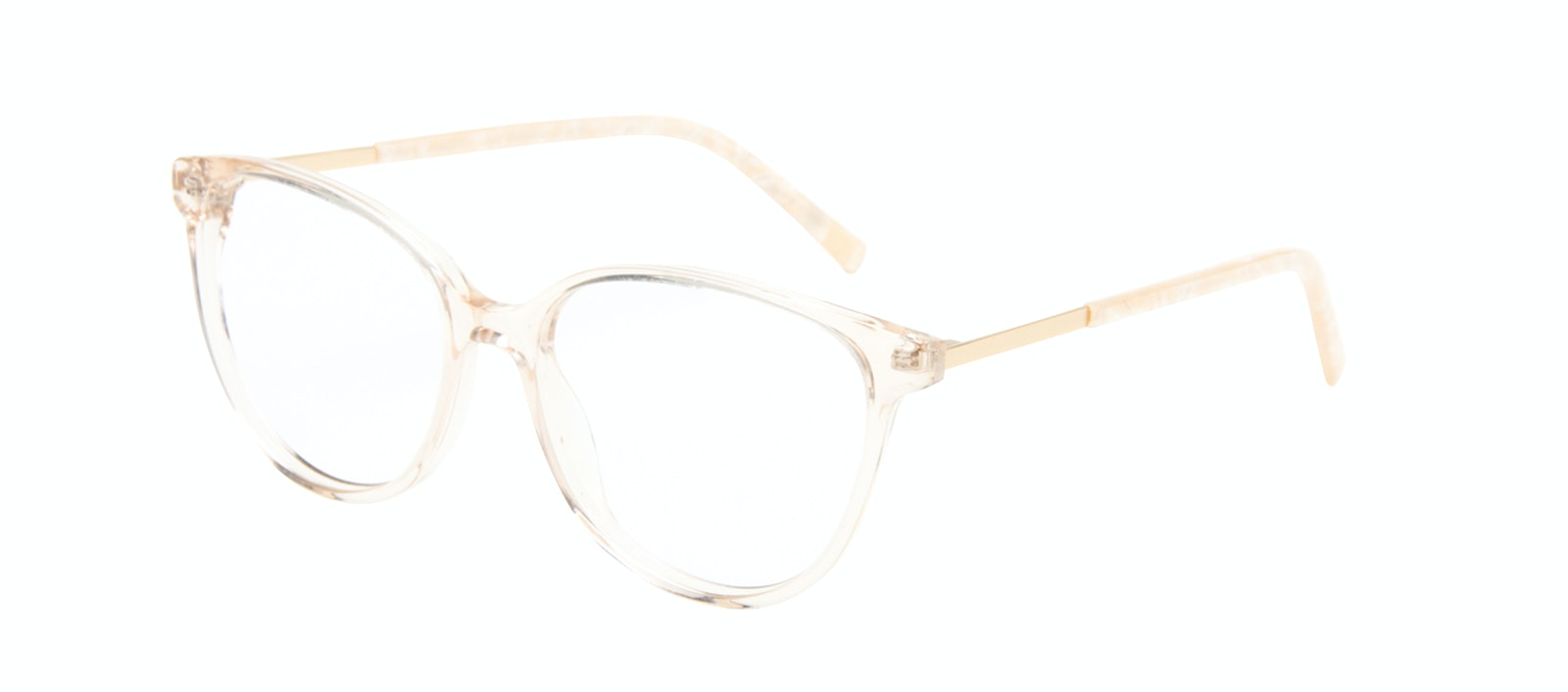Affordable Fashion Glasses Cat Eye Eyeglasses Women Imagine II Golden Marble Tilt