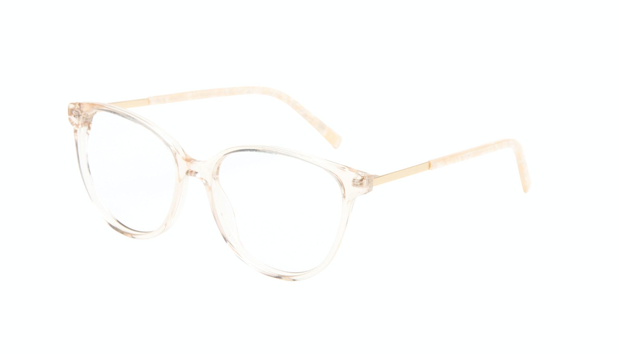 Affordable Fashion Glasses Cat Eye Eyeglasses Women Imagine II Golden Marble Tilt