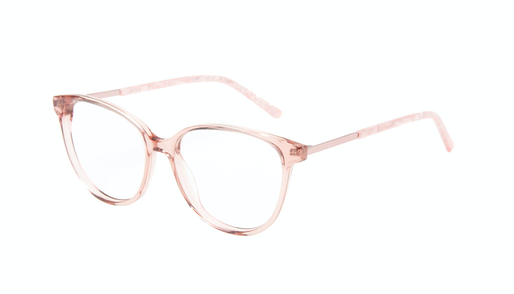 Affordable Fashion Glasses Round Eyeglasses Women Imagine II Rose Marble Tilt