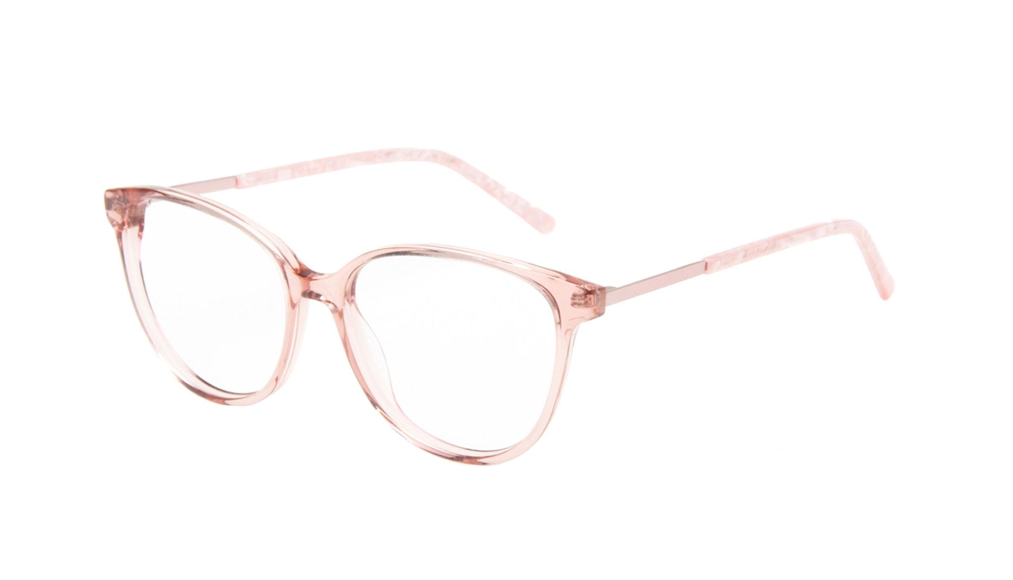 Lunettes tendance Ronde Lunettes de vue Femmes Imagine II Rose Marble Incliné