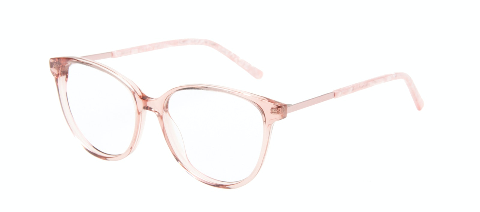 Affordable Fashion Glasses Cat Eye Eyeglasses Women Imagine II Rose Marble Tilt