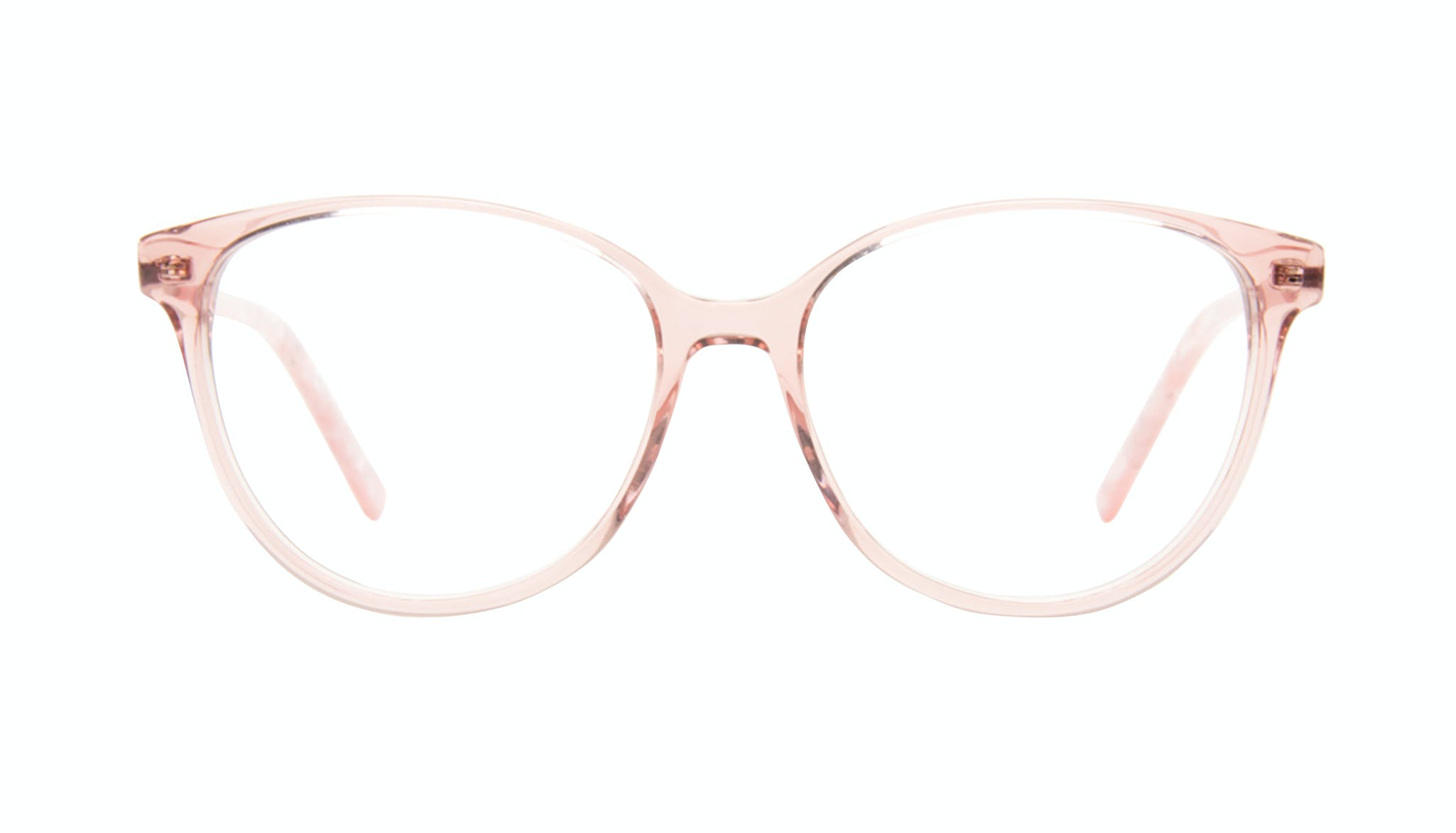 Affordable Fashion Glasses Round Eyeglasses Women Imagine II Rose Marble Front