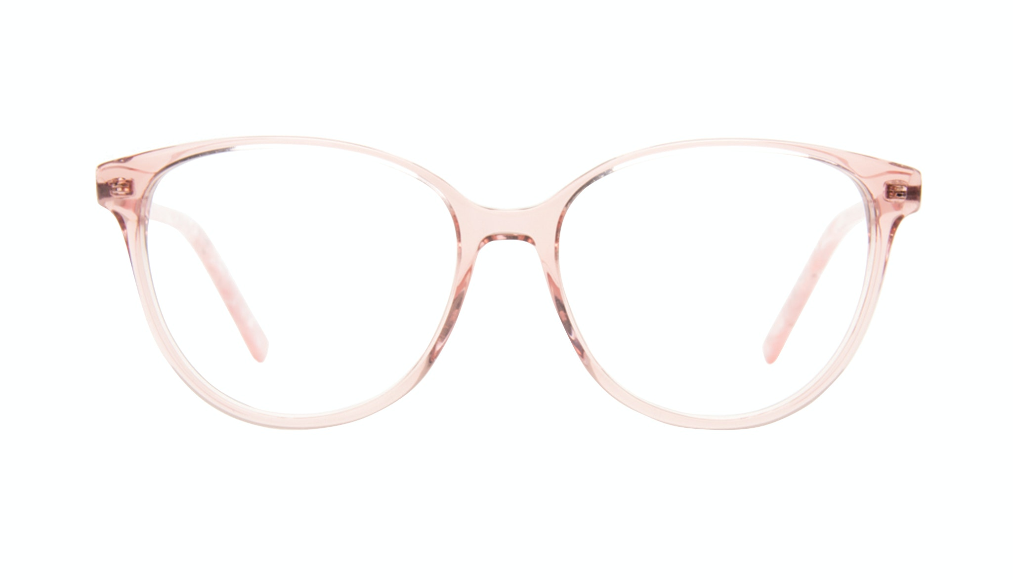 Affordable Fashion Glasses Round Eyeglasses Women Imagine II Rose Marble