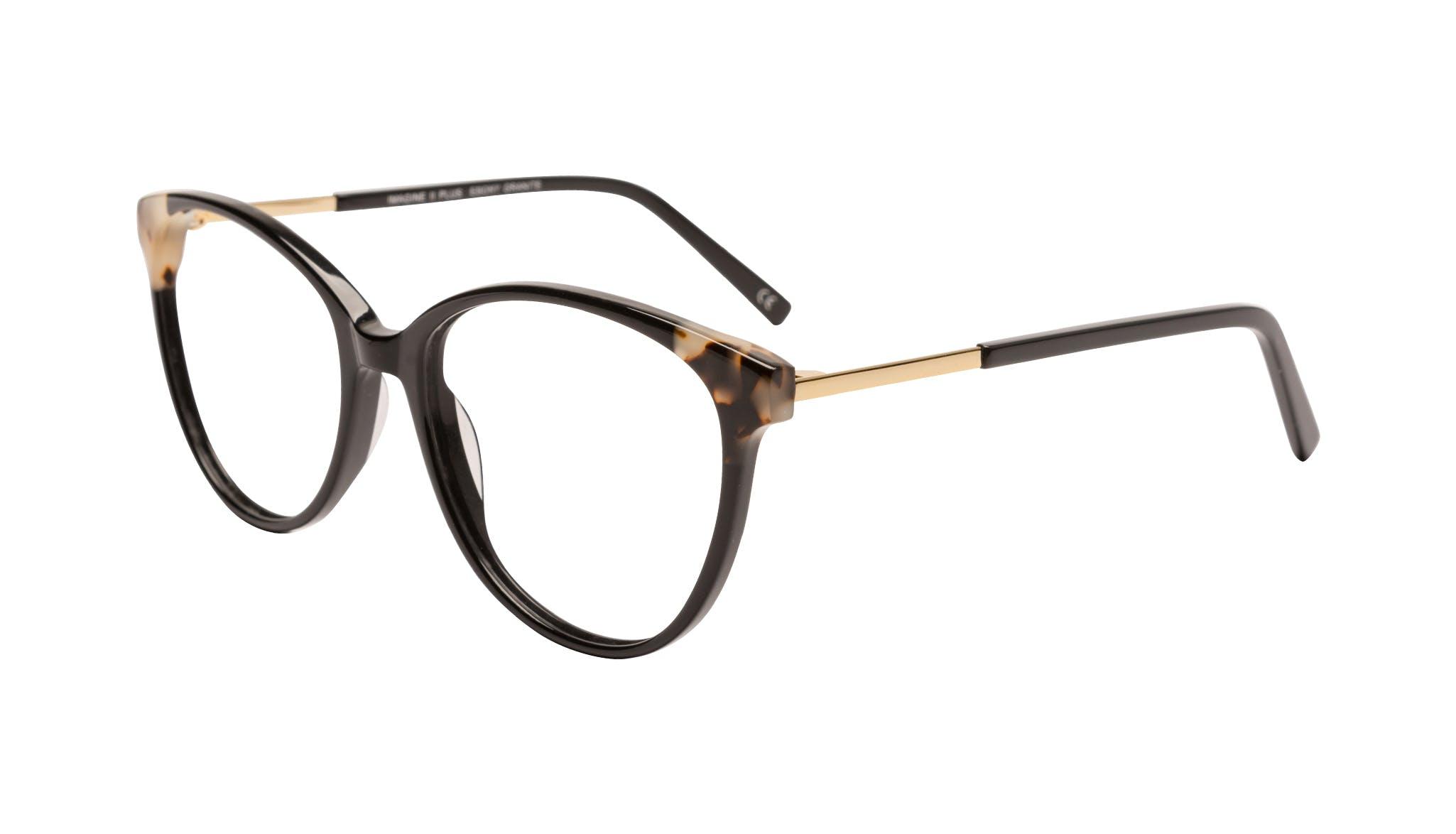 Affordable Fashion Glasses Cat Eye Eyeglasses Women Imagine II Plus Ebony Granite Tilt