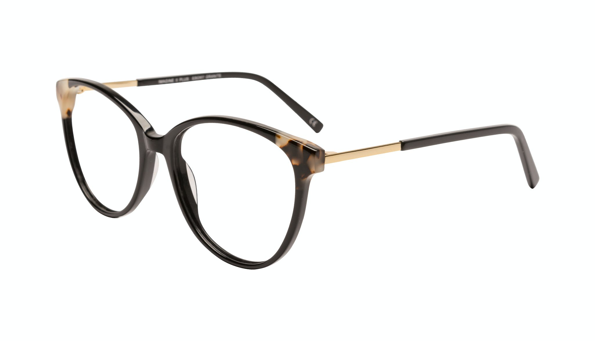 Affordable Fashion Glasses Round Eyeglasses Women Imagine II Plus Ebony Granite Tilt