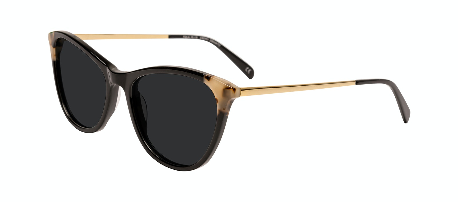 Affordable Fashion Glasses Round Sunglasses Women Imagine II Plus Ebony Granite Tilt