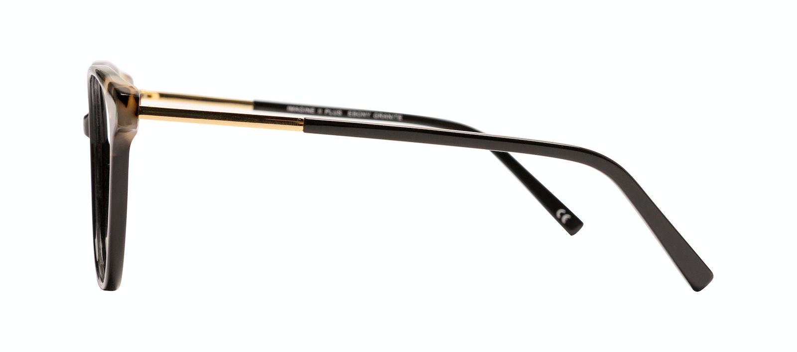 Affordable Fashion Glasses Cat Eye Eyeglasses Women Imagine II Plus Ebony Granite Side