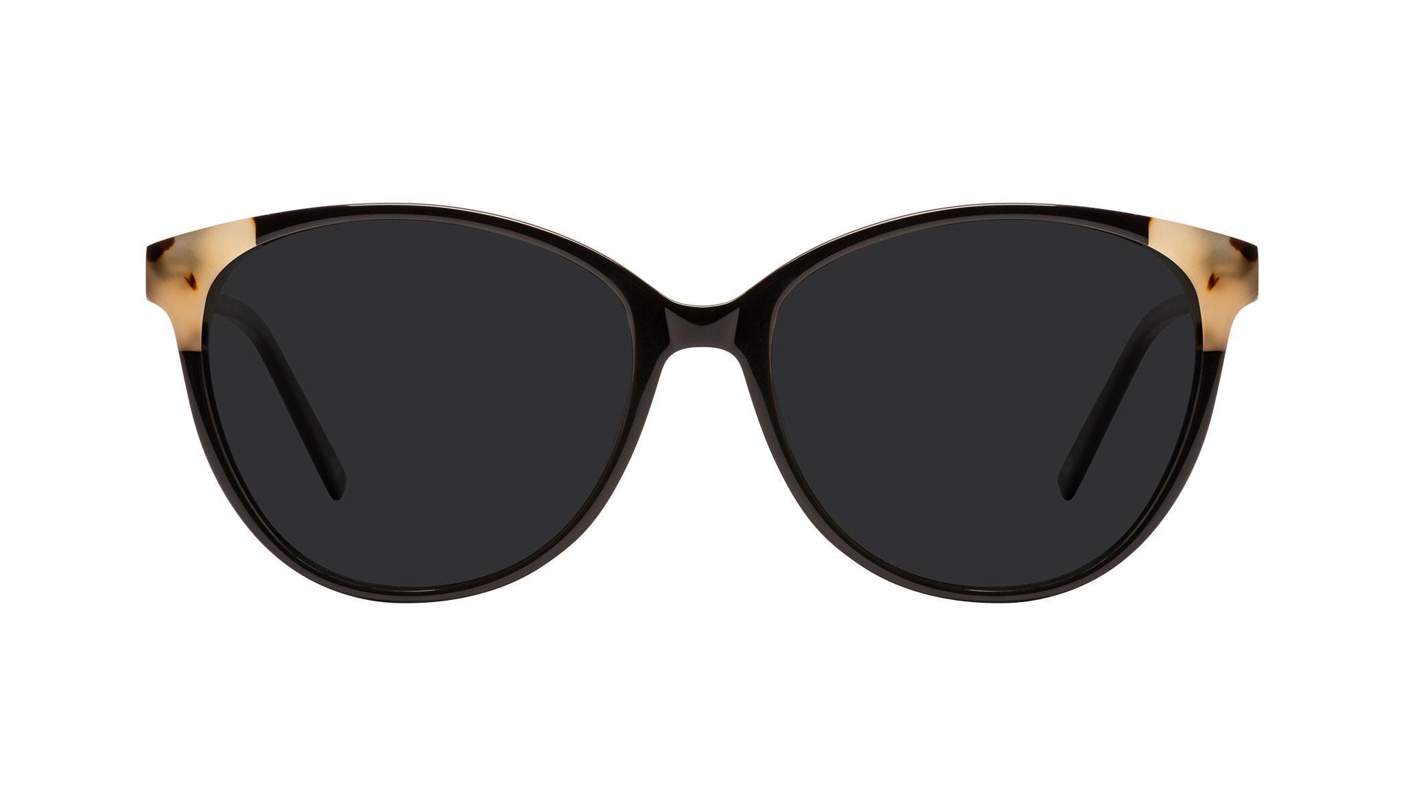 Affordable Fashion Glasses Round Sunglasses Women Imagine II Plus Ebony Granite Front