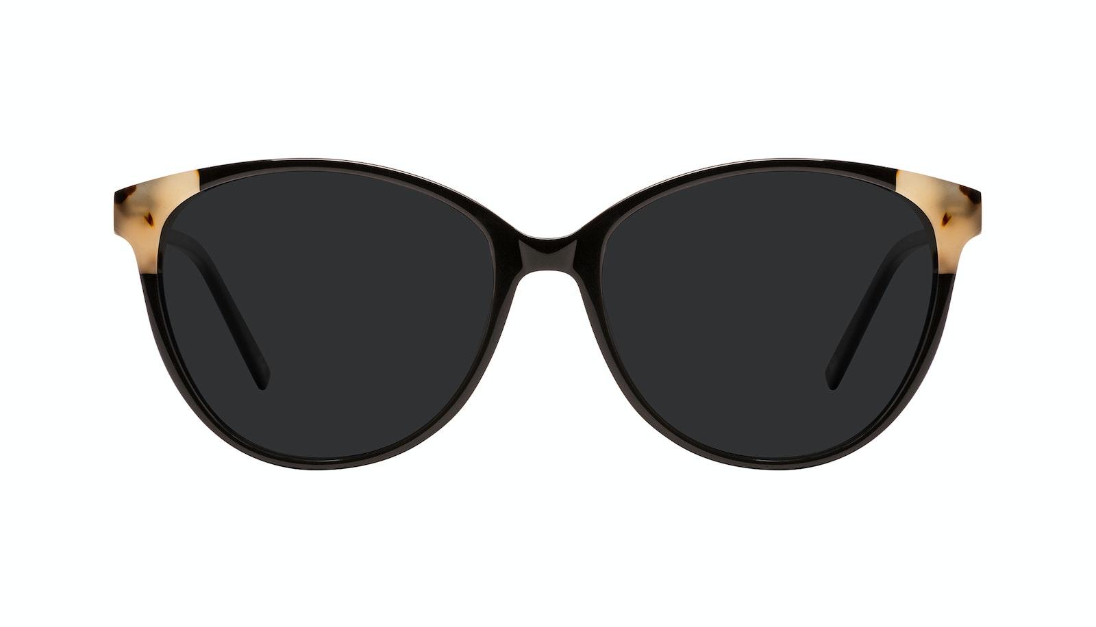 Affordable Fashion Glasses Round Sunglasses Women Imagine II Plus Ebony Granite