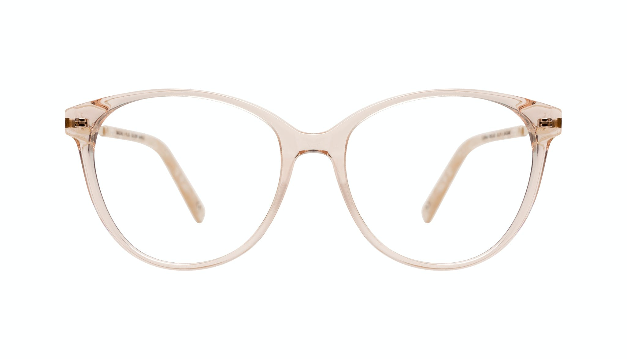 Affordable Fashion Glasses Round Eyeglasses Women Imagine II Plus Golden Marble Front